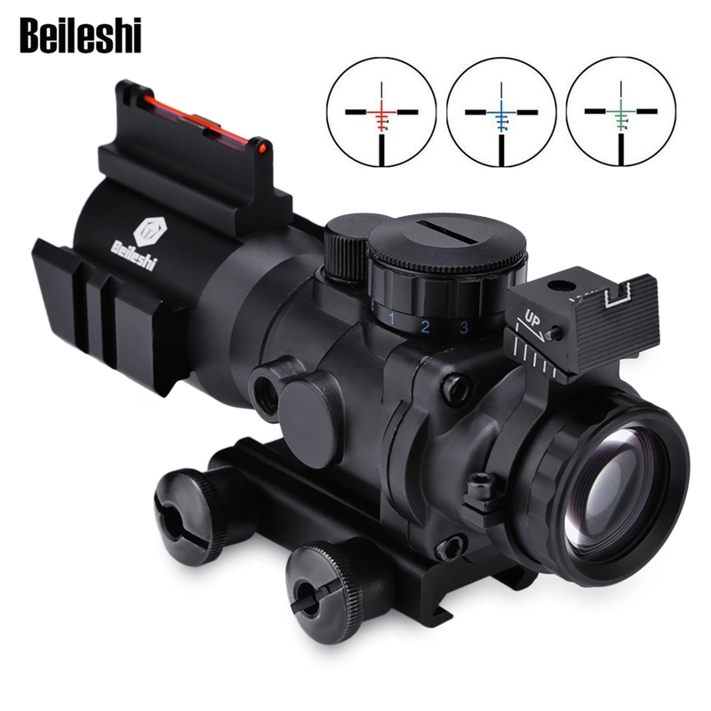 4x32 Acog Riflescope 20mm Dovetail Reflex Optics Scope Taktikal Sight Untuk Memburu Gun Rifle Airsoft Sniper Magnifier Air Gun
