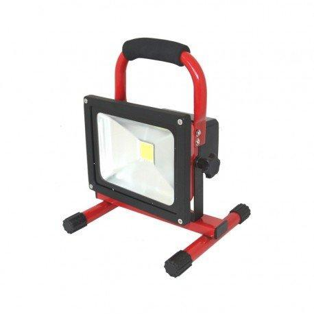 Focus LED 10 W 12 V + batterie + chargeur 12/24/230 V