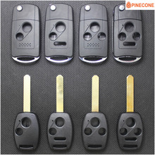 PINECONE Key Shell For HONDA ACCORD ELEMENT CR-V HR-V CITY JAZZ ODYSSEY SHUTTLE CIVIC Key HON66 Blade Flip Folding Car Key Fob