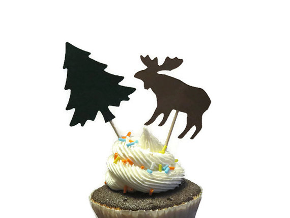 Glitter Reindeer And Sleigh Christmas Cupcake Toppers Party Bachelorette Birthday Wedding Bridal Shower Night Food Picks Wedding & Anniversary Bands