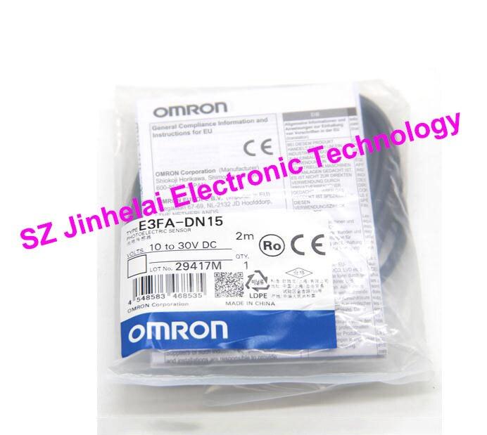 New and original E3FA-DN15 OMRON  Photoelectric switch   Photoelectric sensor    2M   10-30VDC omron photoelectric switch sensor built in micro diffuse 2m e3t sl11