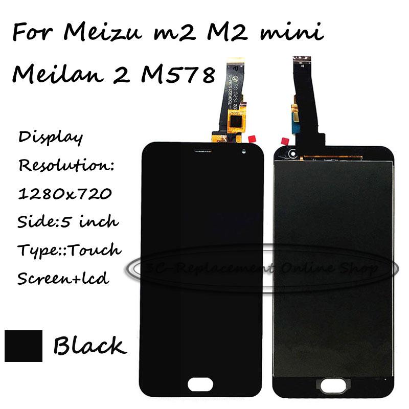 imágenes para Negro LCD + TP Para Meizu m2 M2 mini/Meilan 2 Pantalla LCD con Digitalizador de la Pantalla Táctil Smartphone M578 envío gratis