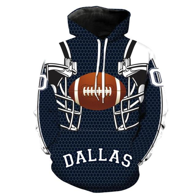 6fc1daaff New Dallas-Cowboys Printed Hoodies 3D Sweatshirts Men Women Hooded  Tracksuits 6XL Autumn Winter Jackets Loose Streetwear Coats