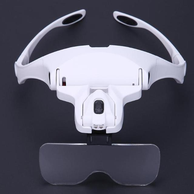 Adjustable Magnifying Headband Glasses with Backlight (5 Lens)