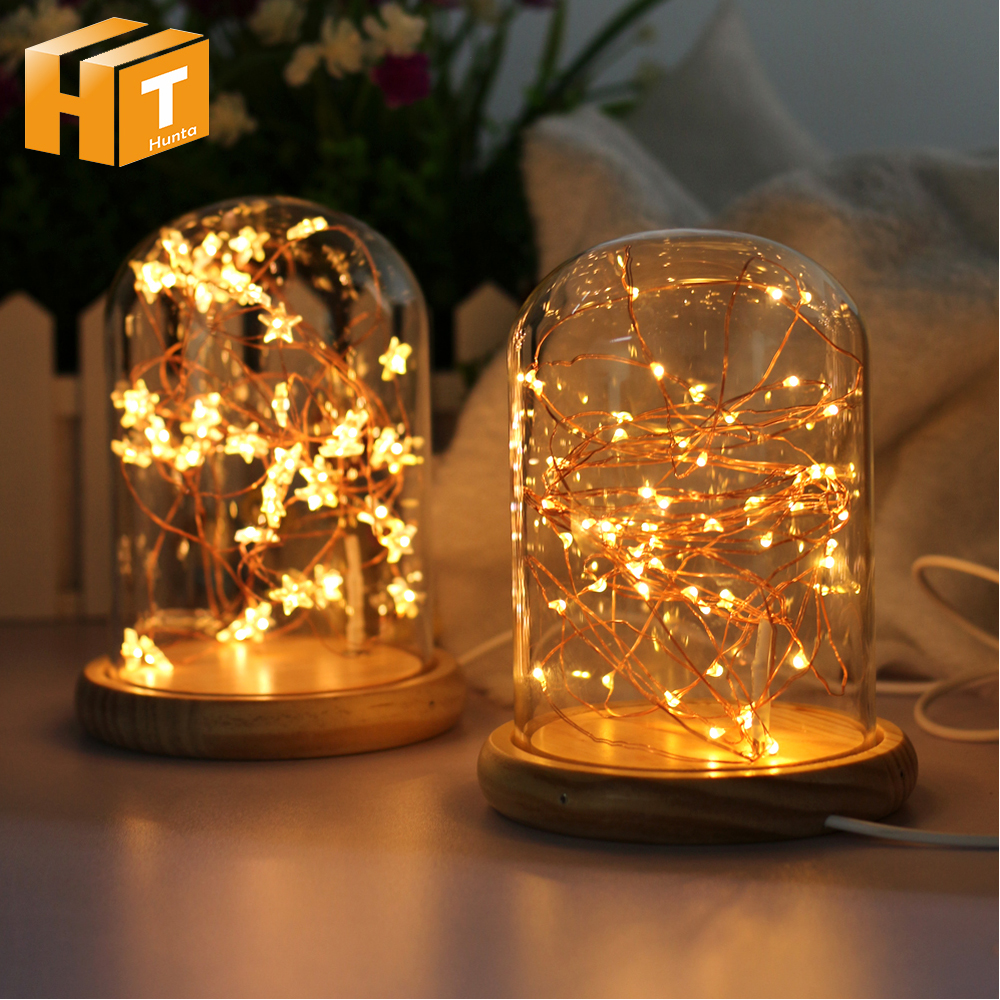 Romantic LED Fire Tree Silver Flower Romantic Glass Cover Bedroom Night Light USB Charging for Party Wedding Decor tion forest tree flower print bedroom tapestry