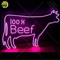 네온 사인 100 쇠고기 리얼 유리 튜브 네온 벌브 간판 장식 레스토랑 공예 사인 라이트 업 로그인 lampara 네온전구&튜브    -