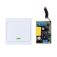 Mini Size 220V 1CH 1CH 10A Wireless Remote Control Switch Relay Receiver 86 Wall Panel Remote