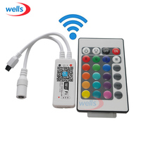 1pcs RGB RGBW Wifi Controller With 24key Remote IOS Android Mobile Phone Wireless For 5050 RGB