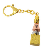 Feng Shui Tri Coloured 5 Element Pagoda Hanging Keychain W3776