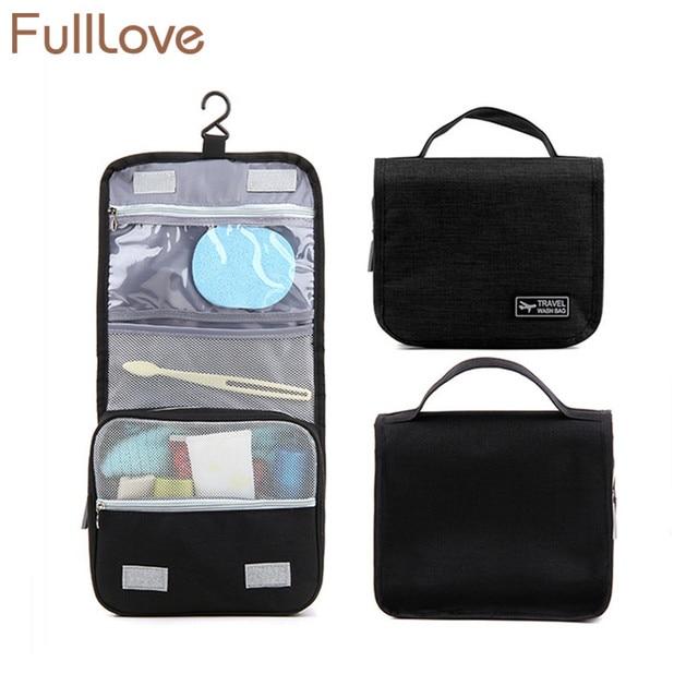 a3204274f0 FullLove Free Shipping Folding Women Men Travel Storage Bag Black Oxford  Hanging Ziplock Bag for Toiletries Towel Soap Organizer