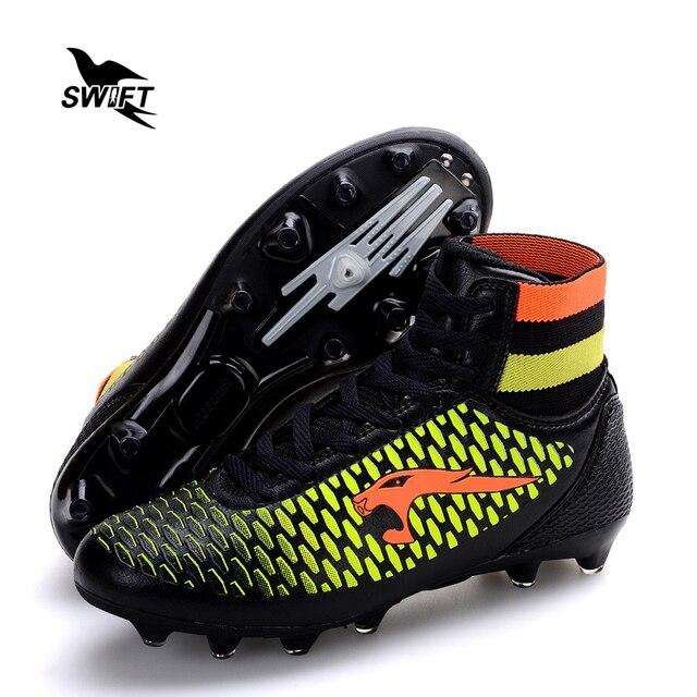Profissional de Alta Tornozelo Mens FG Botas de Futebol Sapatos Novos de Futebol  Masculino Baratos Mulheres 552e0e9469a3d