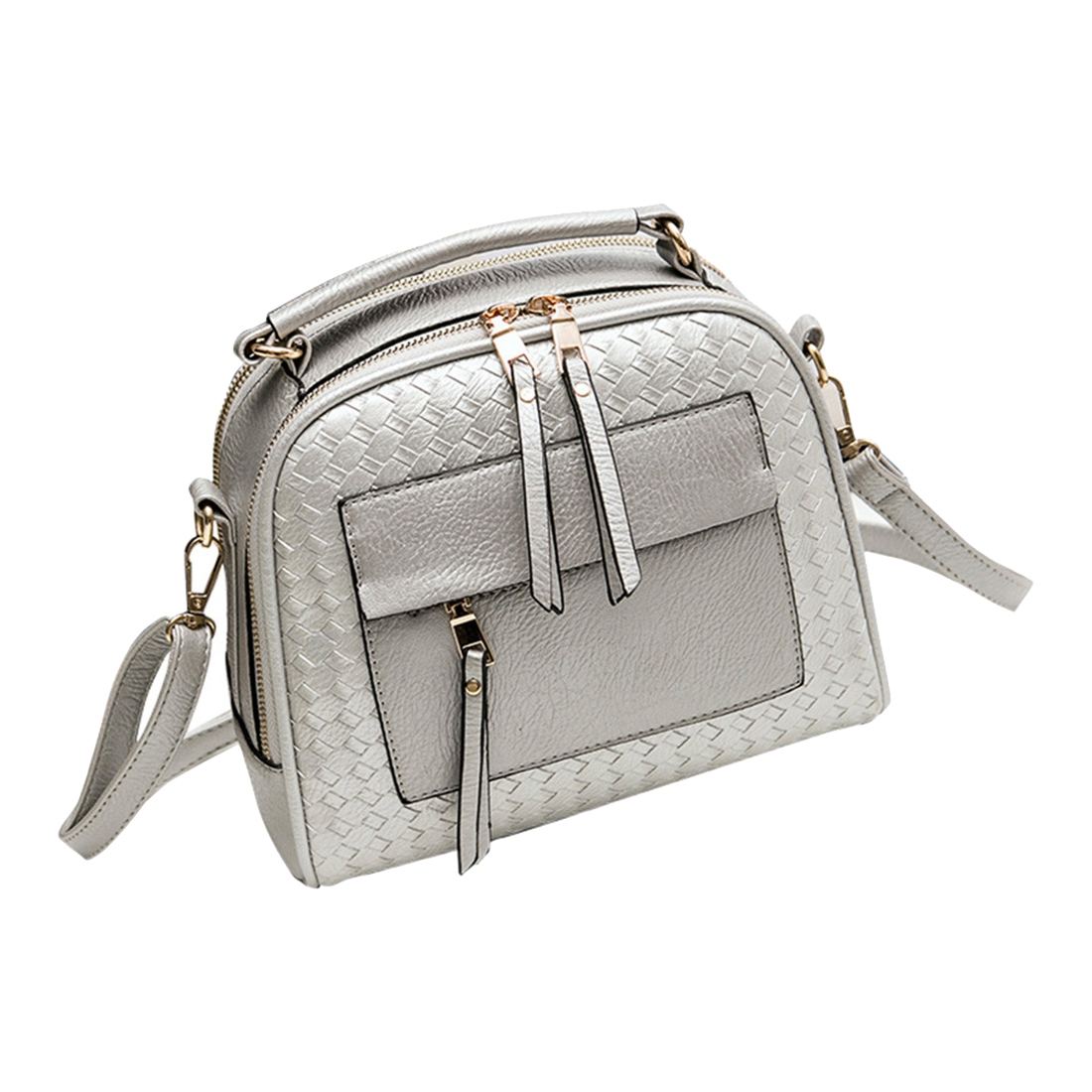 купить 5 pcs of Knitting Women Handbag Fashion Weave Shoulder Bag Small Casual Cross Body Bag Retro Tote недорого