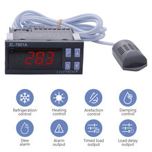 ZL-7801A Intelligent LCD Digital Temperature and Humidity Controller Incubator Controller Turning Egg Controller AC100 ~ 240V(China)