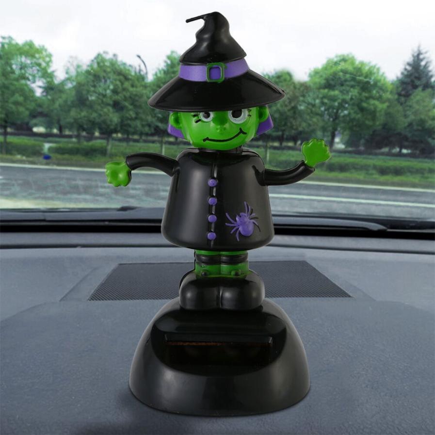 2018 Hot selling New Fashion Strange shape Solar Powered Dancing Halloween Swinging Animated Bobble Dancer Toy Car Decor