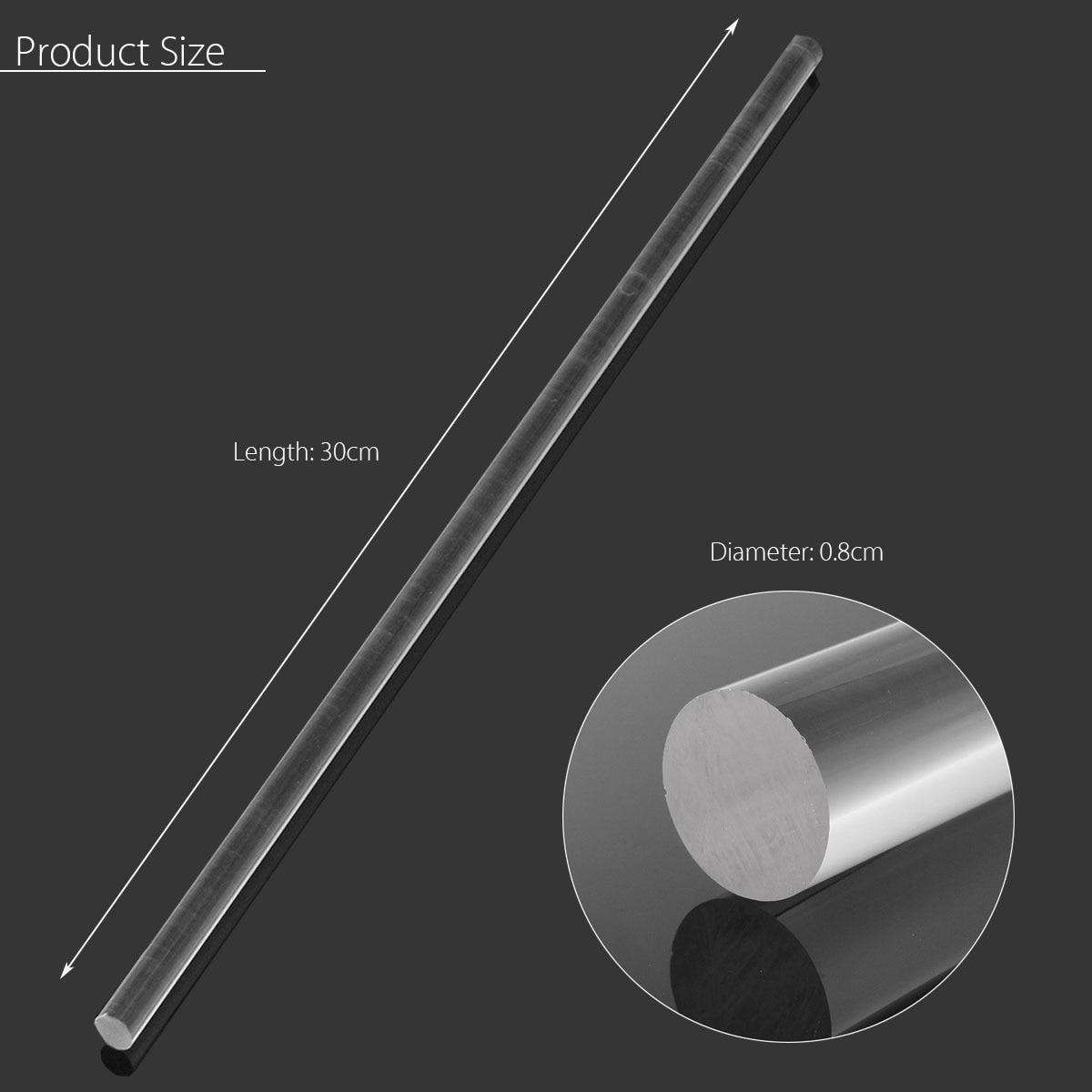 "Rod 5//16/"" Clear Plexiglass Round Perspex Acrylic 2/"" 4/"" 6/"" 8/"" 10/"" 12/"" Length"