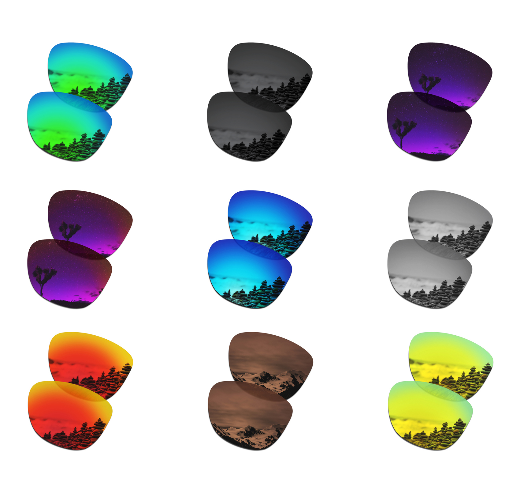 SmartVLT Polarized Replacement Lenses For Oakley Frogskins Sunglasses - Multiple Options
