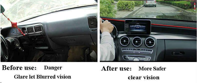 Estera de la cubierta del salpicadero del coche para Hyundai nuevo Santa Fe 2012-2016 IX45 2015-2016 de mano derecha accesorios de coche de cubierta de salpicadero