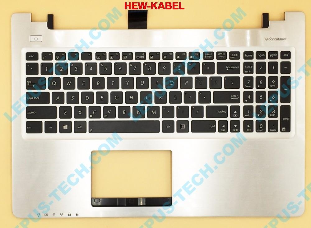 UNS Englisch UK Tastatur Für ASUS K56 K56C K56CB K56CM K56CA A56 A56C S56C S56 Top Abdeckung Ober Fall Palmrest 90R-NUH1K1080Y Silber