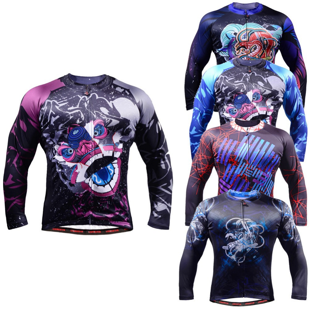 Life on track Men s Long Sleeve font b Cycling b font Jersey Workout Long lasting