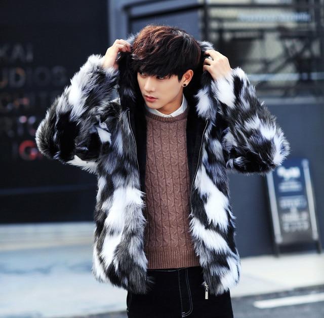 f524fd07b159e Large Size 7XL New Men Long Sleeve Faux Fur Coat Winter High Grade Mens  Plus Velvet Warm Hooded Jacket