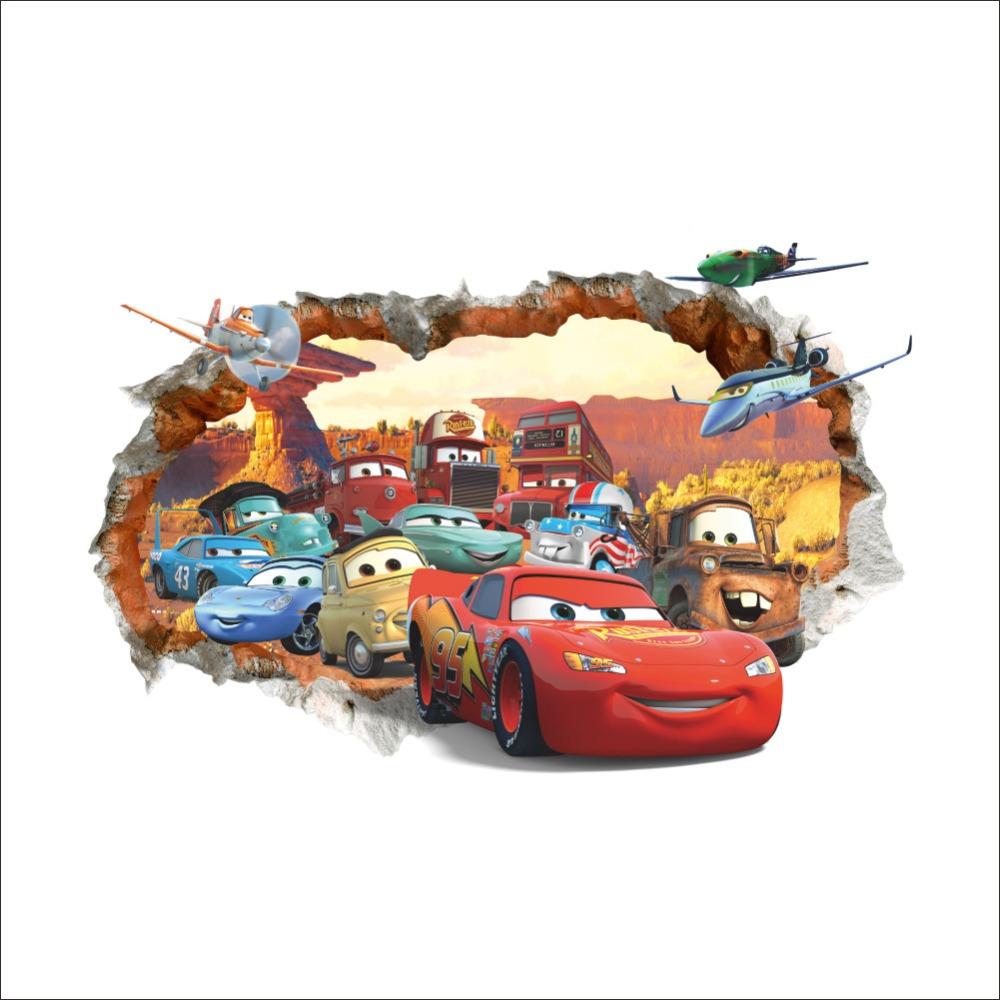 HTB1MBizKACWBuNjy0Faq6xUlXXav - 3D DIY Pixar Car 3 Lightning McQueen Wall Sticker + Free Shipping