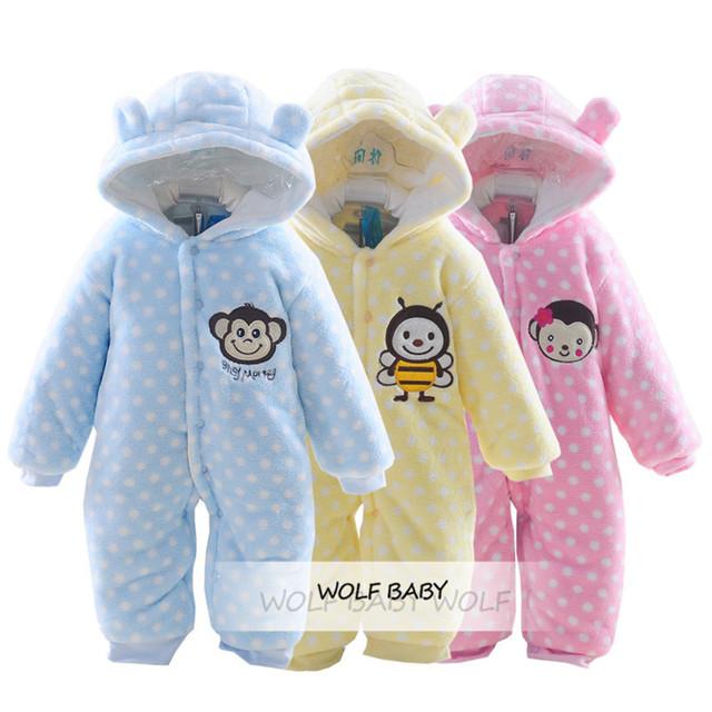 Retail muchachas de los muchachos de los mamelucos de la historieta 0-12months del bebé niños niños Ropa Ropa Ropa Infantil de invierno primavera otoño otoño