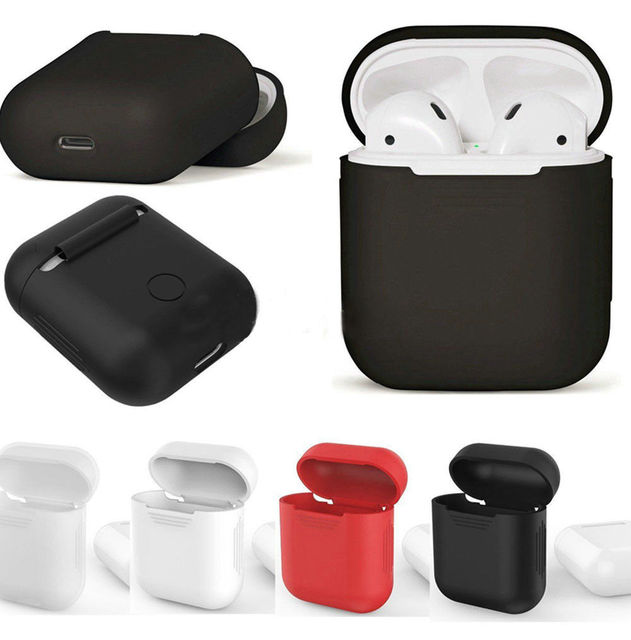 Fino de Silicone À Prova de Choque Caso Capa Protetora Da Pele Para A Apple AirPods Fones De Ouvido Caixa de Armazenamento de Mais Novo Em Estoque