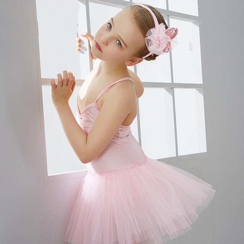 3-13Y Girls Ballet Dance Dress Pink/White Swan Lake Ballet Costume Ballet Clothes Children  Ballerina Sweet Dancewear For Girls