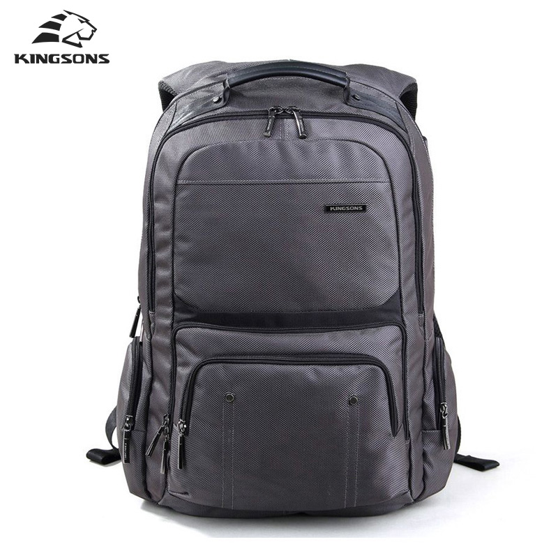 Kingsons Shockproof Laptop Backpack Male High Quality Student Notebook Bags Nylon Bagpack for Men Mochila 14 15 15 6 inch flax linen laptop notebook backpack bags case school backpack for travel shopping climbing men women
