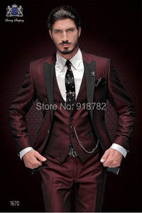 Custom Made Terno Slim Fit Groomsmen Men Wedding Prom Suits