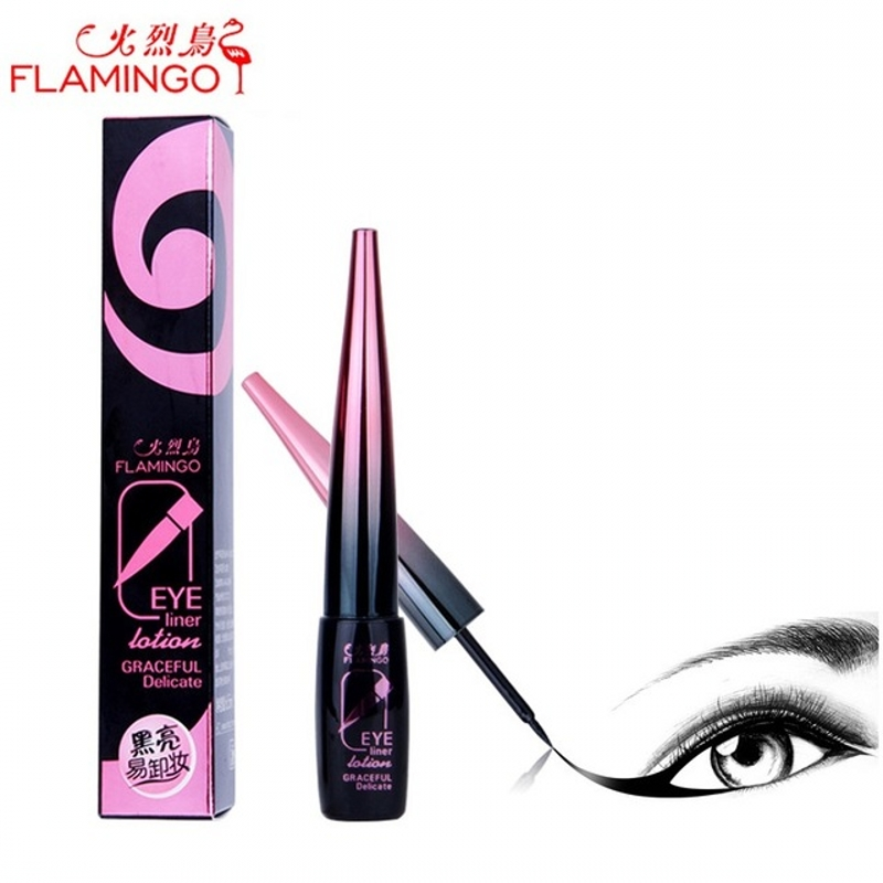 Eye Makeup FLAMINGO Eye liner Brand 6.5ml Hard Head Quick-drying Waterproof not blooming Easy to Draw Black Liquid Eyeliner 188 free shipping 3 pp eyeliner liquid empty pipe pointed thin liquid eyeliner colour makeup tools lfrosted purple