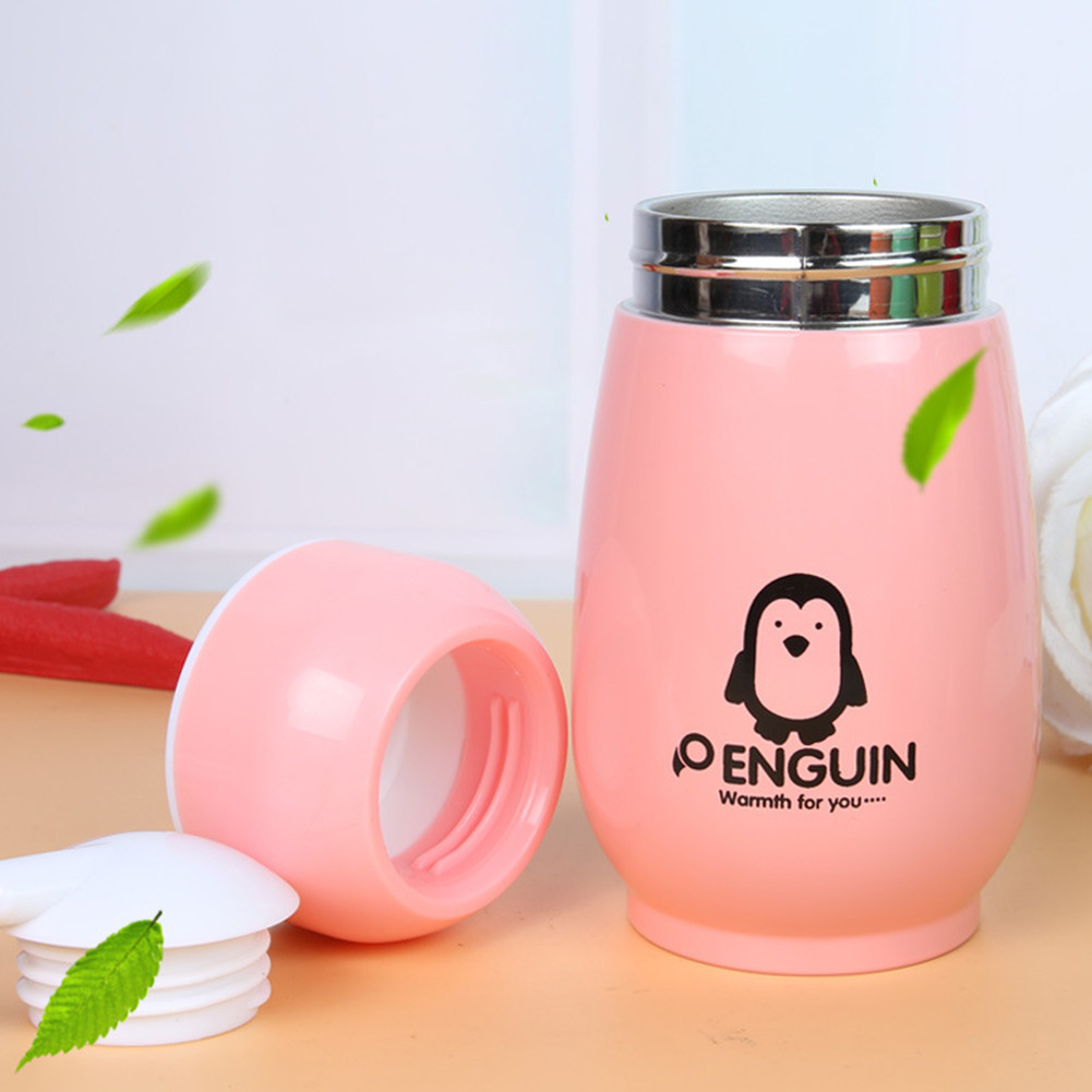 Cute Thermoses 260ML Penguin Thermos Cup Stainless Steel Thermal Insulation Drinking Water Bottle Vacuum Flask Belly Cup Термос