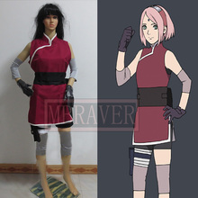Naruto la última Haruno Sakura Cosplay del traje del Anime de encargo cualquier tamaño