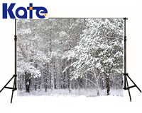 KATE Winter Backdrops Photography Ice Snow Tree Scenery Photo Shoot White Forest World Backdrops For Photo Studio