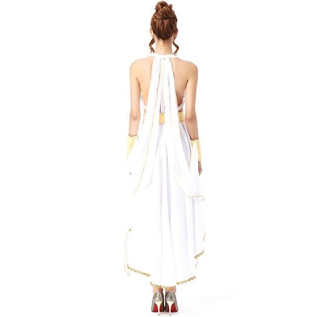 b89c1293fbf placeholder Deluxe белый греческой богини костюм для взрослых Для женщин  костюмы на Хэллоуин женский длинный с высокой
