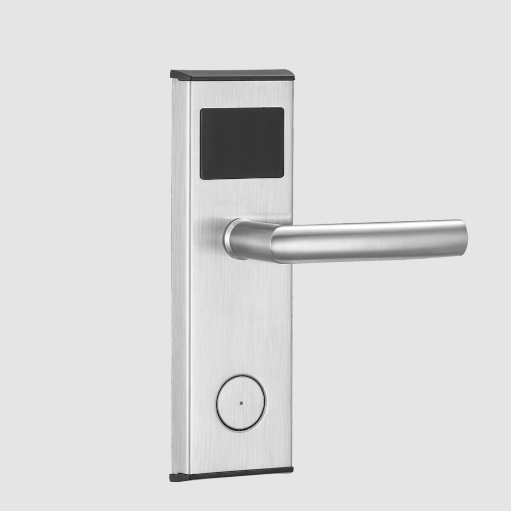 Digital RFID hotel key card lock door electronic keyless door lock entry system with free management software electronic rfid card door lock with key electric lock for home hotel apartment office smart entry lk1008ebg