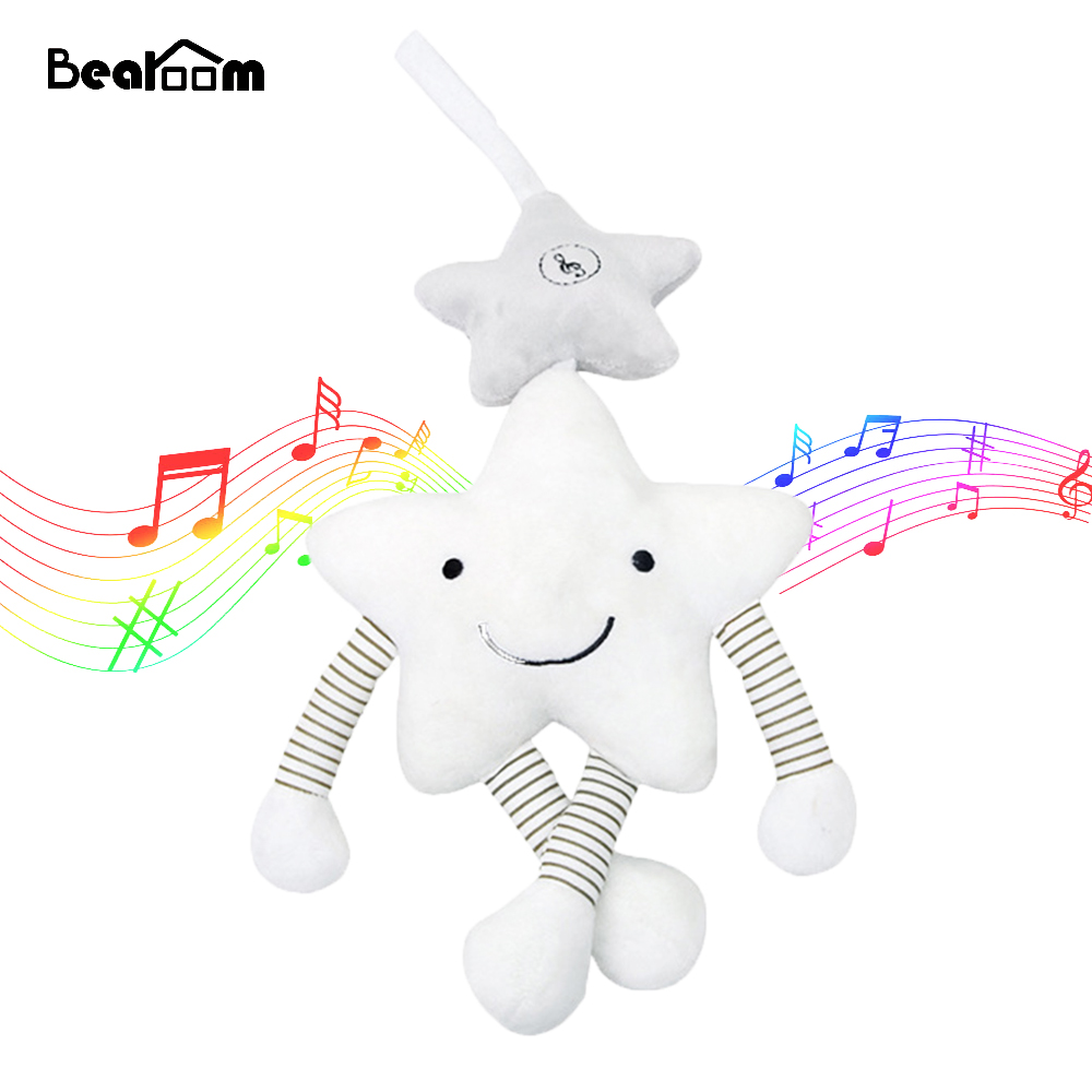 Bearoom Baby Rattle Stroller Toy Musical Mobile Baby Toys Cute Learning Edccation Cartoon Star For Infant Strollers Crib Hanging cute lovely baby bed around baby stroller hanging dolls bell rattle mobile musical plush infant toys gifts xmas toy for kids