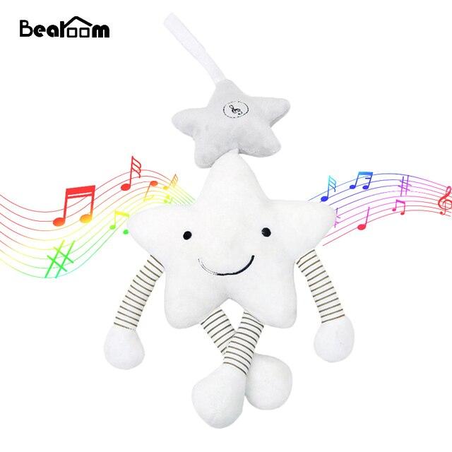 Bearoom Chocalho Do Bebê Carrinho De Bebê De Brinquedo Brinquedos Do Bebê Musical Móvel Bonito Aprendizagem Edccation Estrela Dos Desenhos Animados Para Carrinhos Infantis Berço Pendurado
