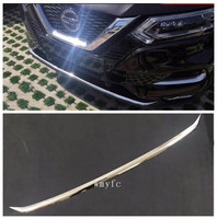 FIT FOR NISSAN QASHQAI J11 2017 2019 CHROME FRONT BUMPER PROTECTOR LIP SPOILER COVER TRIM MOLDING GARNISH GUARD GRILLE Styling