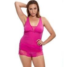 Frauen Sleep & Lounge Rosa Farbe Pyjama Sets Sexy Nachthemden + Shorts Komfortable Weiche Und Seidige Material S M L XL 2XL