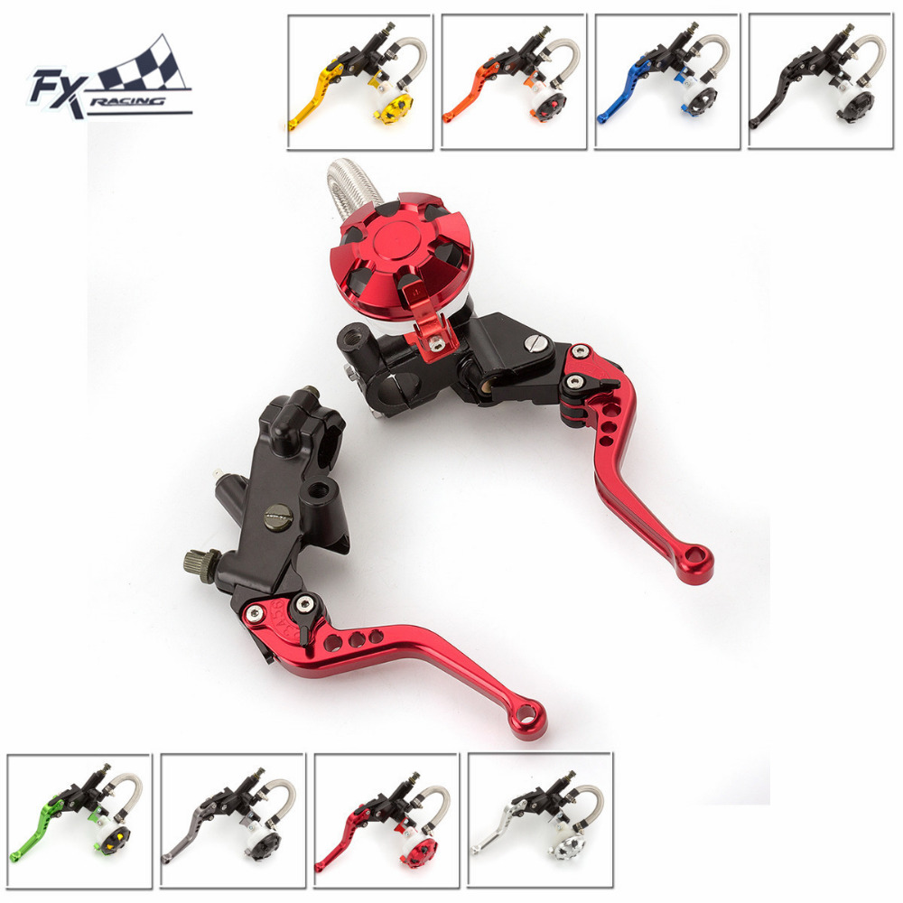 7/8 22mm Motorcycle Brake Clutch Lever Master Cylinder Reservoir Hydraulic Brake Lever For Honda CBF125 PCX150 CBR250R CB300F hot sale motorcycle accessories 7 8 hydraulic levers cnc motocross brake master cylinder lever for ktm 105sx 2009 2010 2011