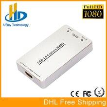 DHL LIBERA el Envío Libre Del Conductor 1080 P 1080I 60fps USB3.0 de Captura HDMI Dongle/Crack de Vídeo USB Tarjeta de Captura de HDMI Con HDCP Grabber