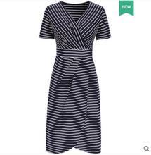 フレンチニッチ 新しい夏 v ネックニットドレス