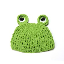 2019 Spring Newborn Frog Wool Baby Hat For A Girl Handmade Cap New Photo