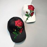 HT1087 New Rose Dad Hat Drake Snapback Caps Flower Roses Summer Baseball Caps Women Men Stylish