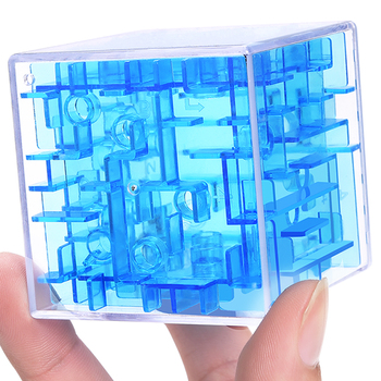 3D Maze Cube Toy Game for Children 1 to 3 Educational Metal Ball Brain Learning Puzzle for Children Adults Boys Intellect