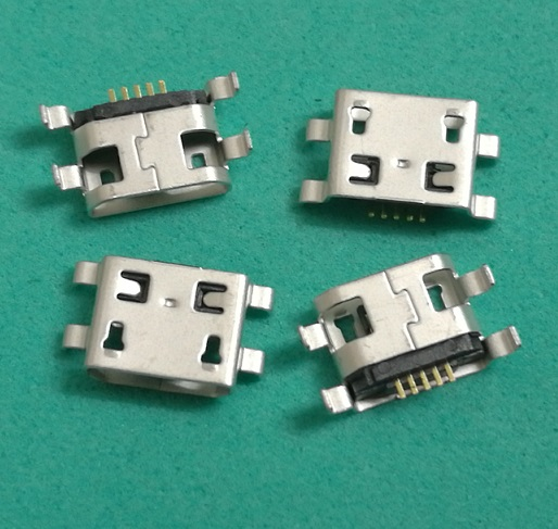 500pcs lot micro usb female connector 5pin for Lenovo A765E A820 LePAD B8000 IO B6000 5pin
