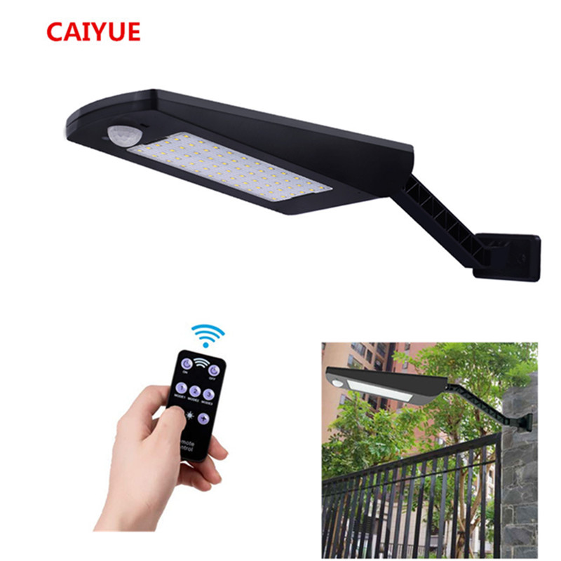 CAIYUE 66/54 Led Solar Lamp Garden 1000LM Outdoor Waterproof Wall Two Angles Light