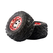 1:12 Scale RC Bigfoot Car Truck Spare Parts 100mm Rubber Tire Tyre 12mm Wheel Hex Rim for Wltoys 12428 FY03 BG1513(China)