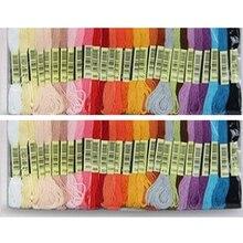 Пользовательские нитки для вышивания крестиком цвета 50 штук нить для вышивания крестиком длиной 8 метров 6 нитей крестиком нитки для вышивания крестиком